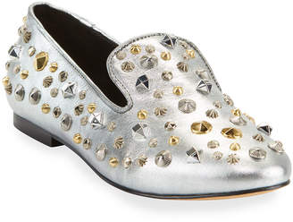 Carrano Abigail Metallic Stud Loafers