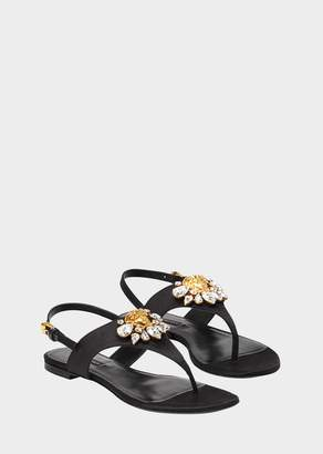Versace Medusa Crystal Satin Sandals