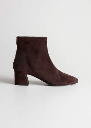 And other stories Flare Heel Suede Boots