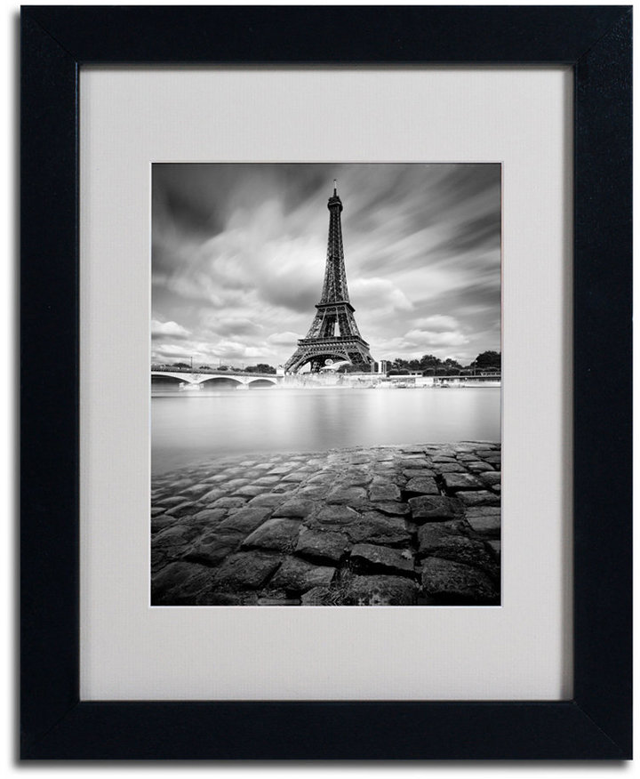 "STUDY 'Eiffel Tower Study' Matted Framed Canvas Print by Moises Levy, 11"" x 14"""