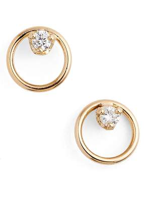 Chicco Zoe Diamond Circle Stud Earrings