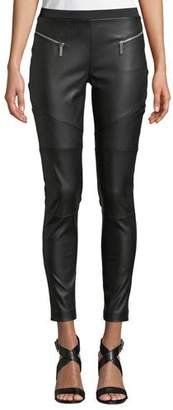 MICHAEL Michael Kors Zip-Detail Faux-Leather Moto Leggings