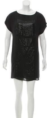 Tibi Sequinned T-Shirt Dress