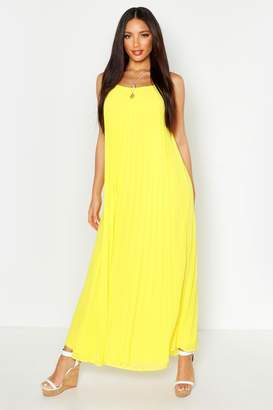 5282df6be8 Yellow Pleated Dress - ShopStyle UK