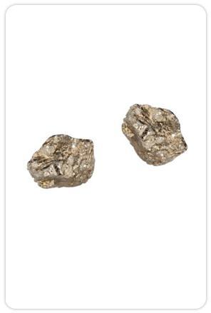 Lauren Wolf Jewelry Single Stud Pyrite Earrings