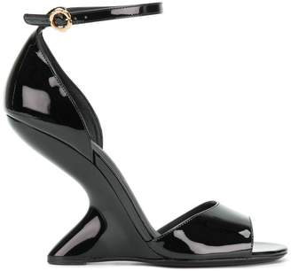 Salvatore Ferragamo sculpted heel sandals