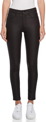 Romanchic Black Faux Leather Jeans