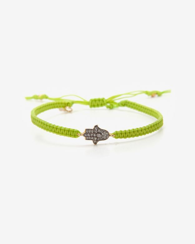 Tai Hamsa Charm Rope Bracelet