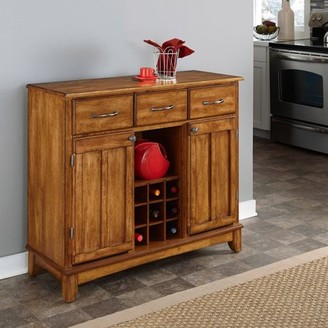 Home Styles Buffet with Wood Top, Oak