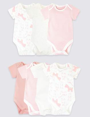 Marks and Spencer 7 Pack Organic Cotton Animal Bodysuits