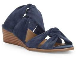 Lucky Brand Rhilley Suede Knot Wedge Sandals