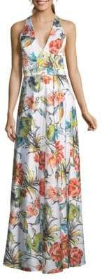 Sleeveless Floral Gown