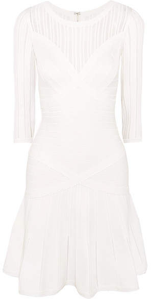 Herve Leger Bandage Dress - Cream
