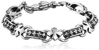 King Baby Studio Men's MB Cross Light Link Sterling Bracelet