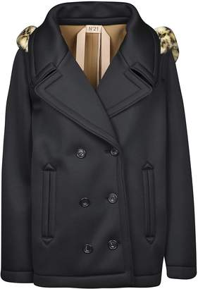 N°21 N.21 Double Breasted Hooded Coat