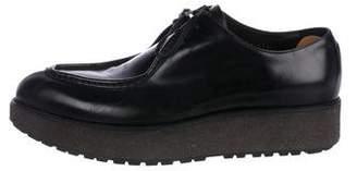 Prada Pointed-Toe Creeper Loafers