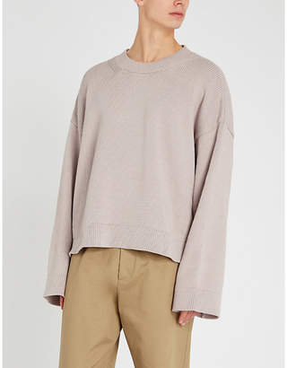 Maison Margiela Oversized cotton-blend jumper