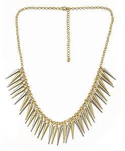 Blu Bijoux Mixed Spikes Necklace