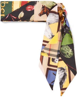 Burberry Printed Silk-twill Scarf - Beige