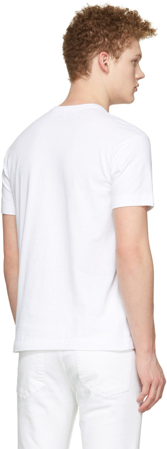 Comme des Garçons Play White Half Heart T-Shirt 2