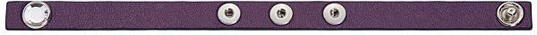 Swarovski Purple Leather Charm Pop Bracelet, S