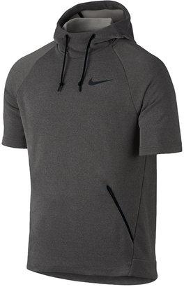 Nike Men's Dry Short-Sleeve Training Hoodie $80 thestylecure.com
