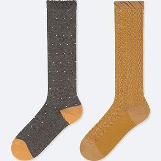Uniqlo Girl's Knee High Socks (set Of 2)