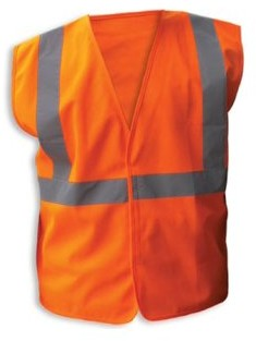 Enguard ORANGE Poly Fabric Reflective Safety Vests, Class 2 - 2XL, 3-Pack
