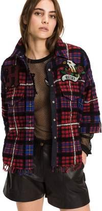Tommy Hilfiger Boxy Tartan Fringe Shirt