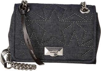 Jimmy Choo Helia Chain Strap Denim Shoulder Bag