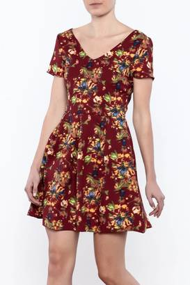 Everly Autumn Floral Dress $46 thestylecure.com
