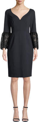 Elie Tahari Danielle 3/4-Sleeve Sheath Dress