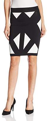 BCBGMAXAZRIA Women's Natalee Geometric Jacquard Pencil Skirt