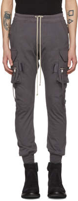 Rick Owens Grey Cotton Jog Cargo Pants