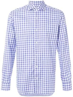 Barba vichy print shirt