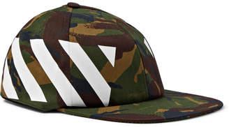 Off-White Camouflage-Print Stretch-Cotton Canvas Cap
