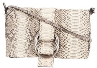 MICHAEL Michael Kors Michael Kors Python Julie Double Ring Clutch