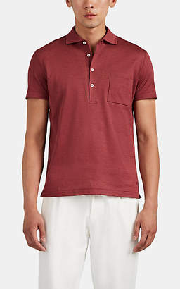 Luciano Barbera Men's Cotton-Piqué Polo Shirt - Red