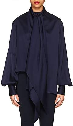 The Row Women's Asta Polished Twill Tieneck Blouse