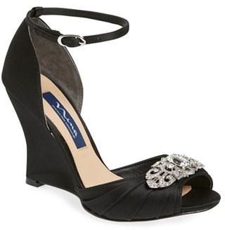 Women's Nina Edyth Swarovski Wedge Sandal $228.95 thestylecure.com