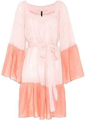 Lisa Marie Fernandez Short Peasant cotton-blend dress