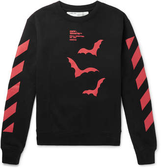 Off-White Off White Logo-Print Loopback Cotton-Jersey Sweatshirt - Men - Black