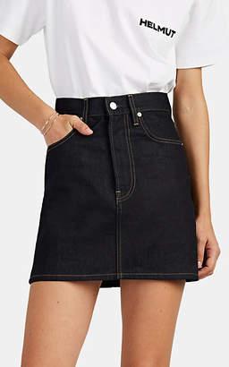 Helmut Lang Women's Denim High-Rise Miniskirt - Dk. Blue