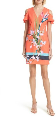 Women's Ted Baker London Leea Cold Shoulder Shift Dress $279 thestylecure.com