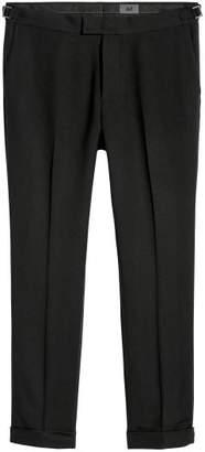 H&M Cropped Suit Pants Slim fit - Black