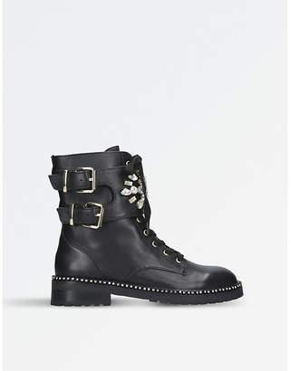 Kurt Geiger London Stoop leather biker boots