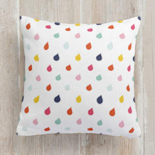 Playful Droplets Square Pillow