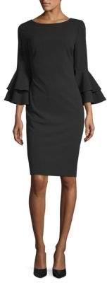 Calvin Klein Tiered Bell-Sleeve Sheath Dress