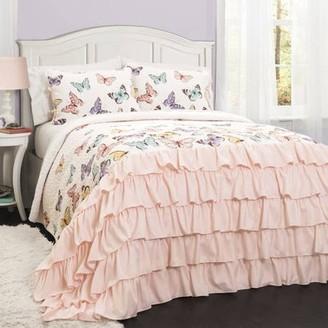 Lush Decor Flutter Butterfly 2/3-Piece Bedding Quilt Set