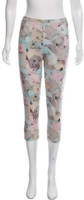 Live The Process Floral Print Mid-Rise Cropped Leggings